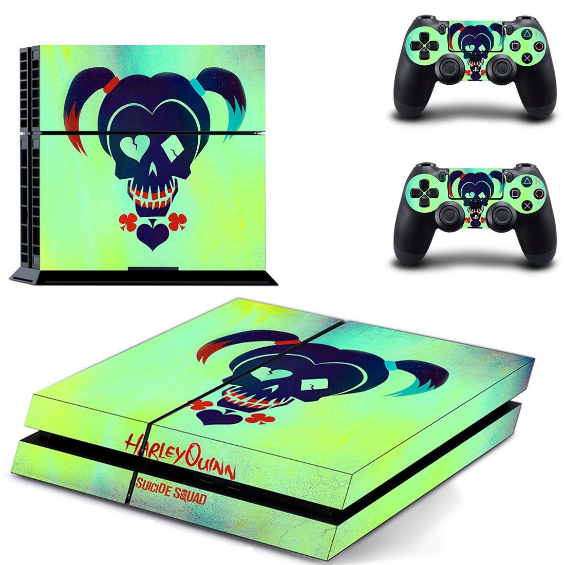 Harley Quin & Suicide Squad ps4 skin decal for console and controllers