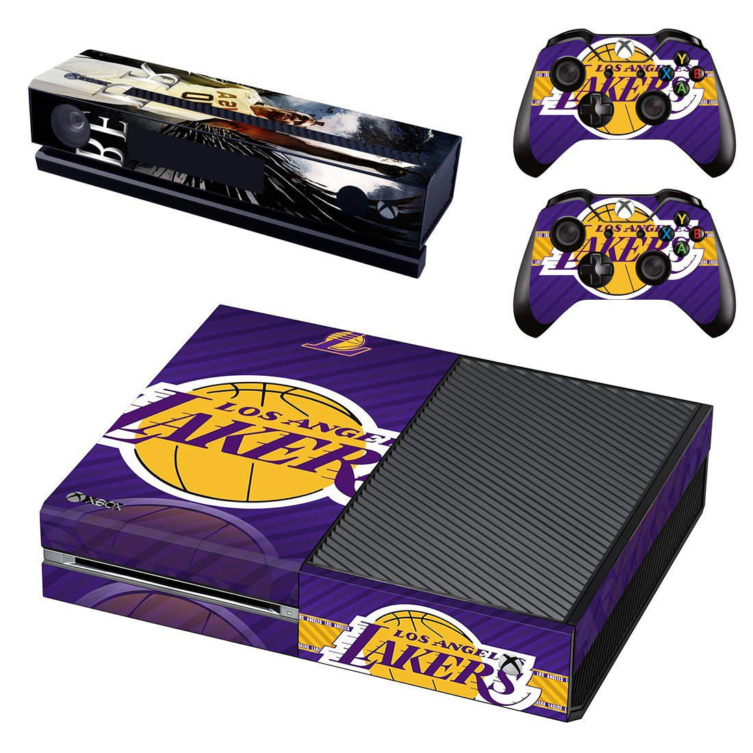 Los Angel Lakers skin decal for Xbox one console and controllers