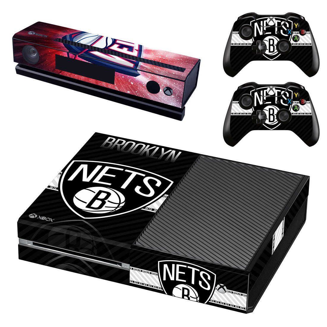 Brooklyn Nets skin decal for Xbox one console and controllers