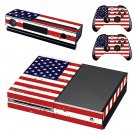 USA Flag skin decal for Xbox one console and controllers