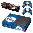 Philadelphia 76ers skin decal for Xbox one console and controllers