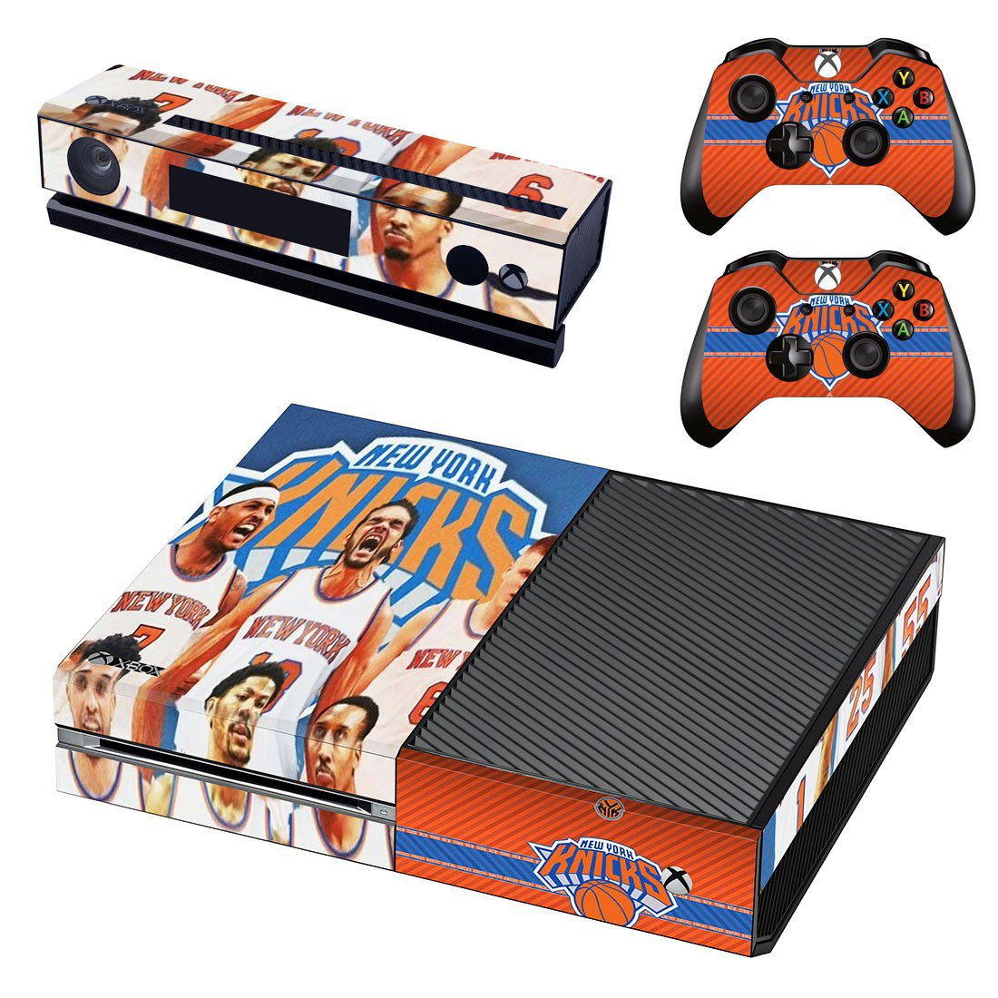 New York Knicks skin decal for Xbox one console and controllers