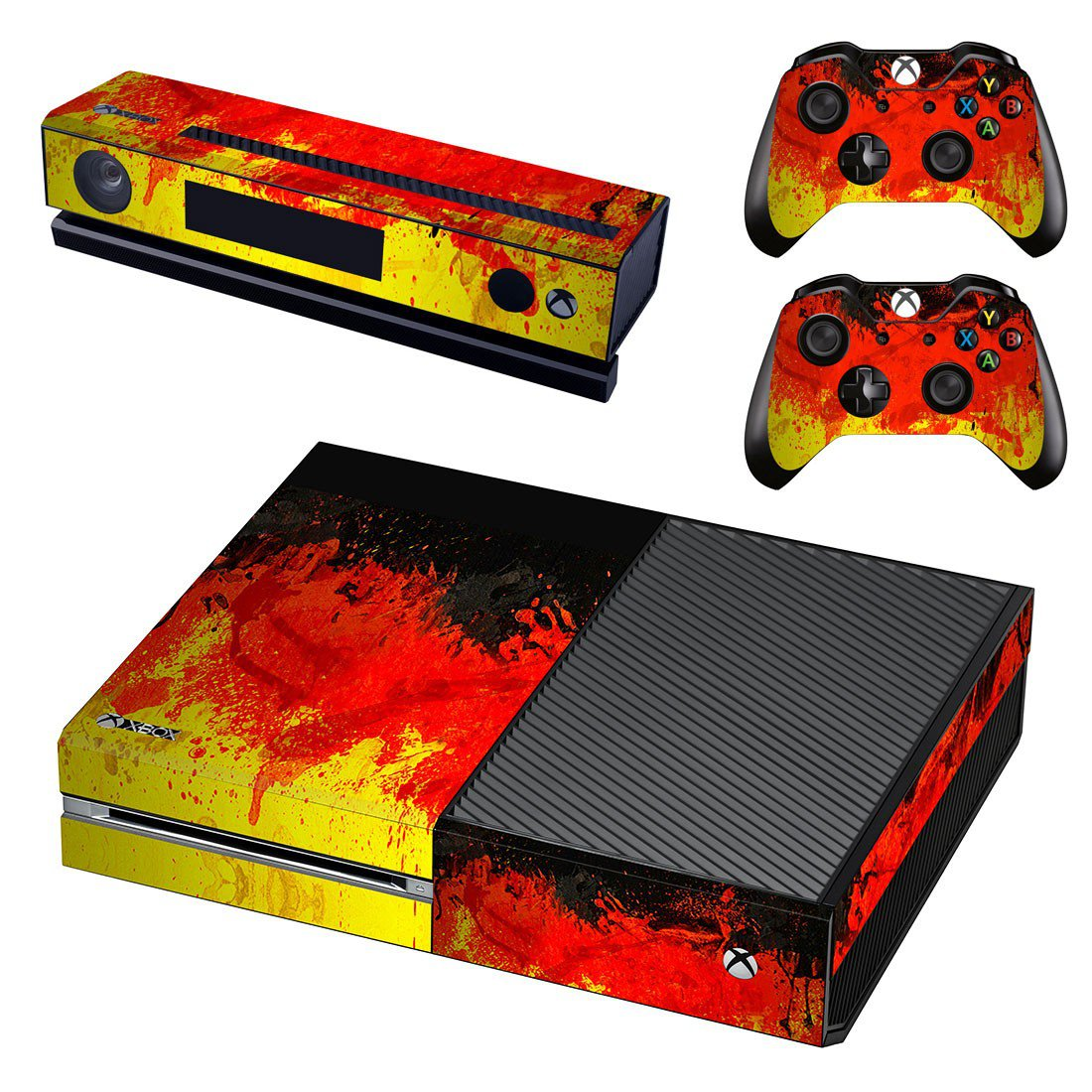 Pouring color skin decal for Xbox one console and controllers