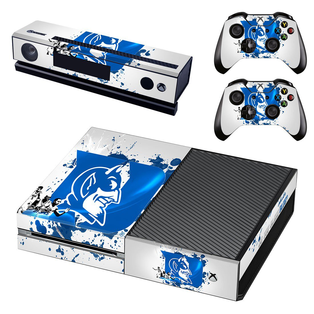 Duke blue devils skin decal for Xbox one console and controllers
