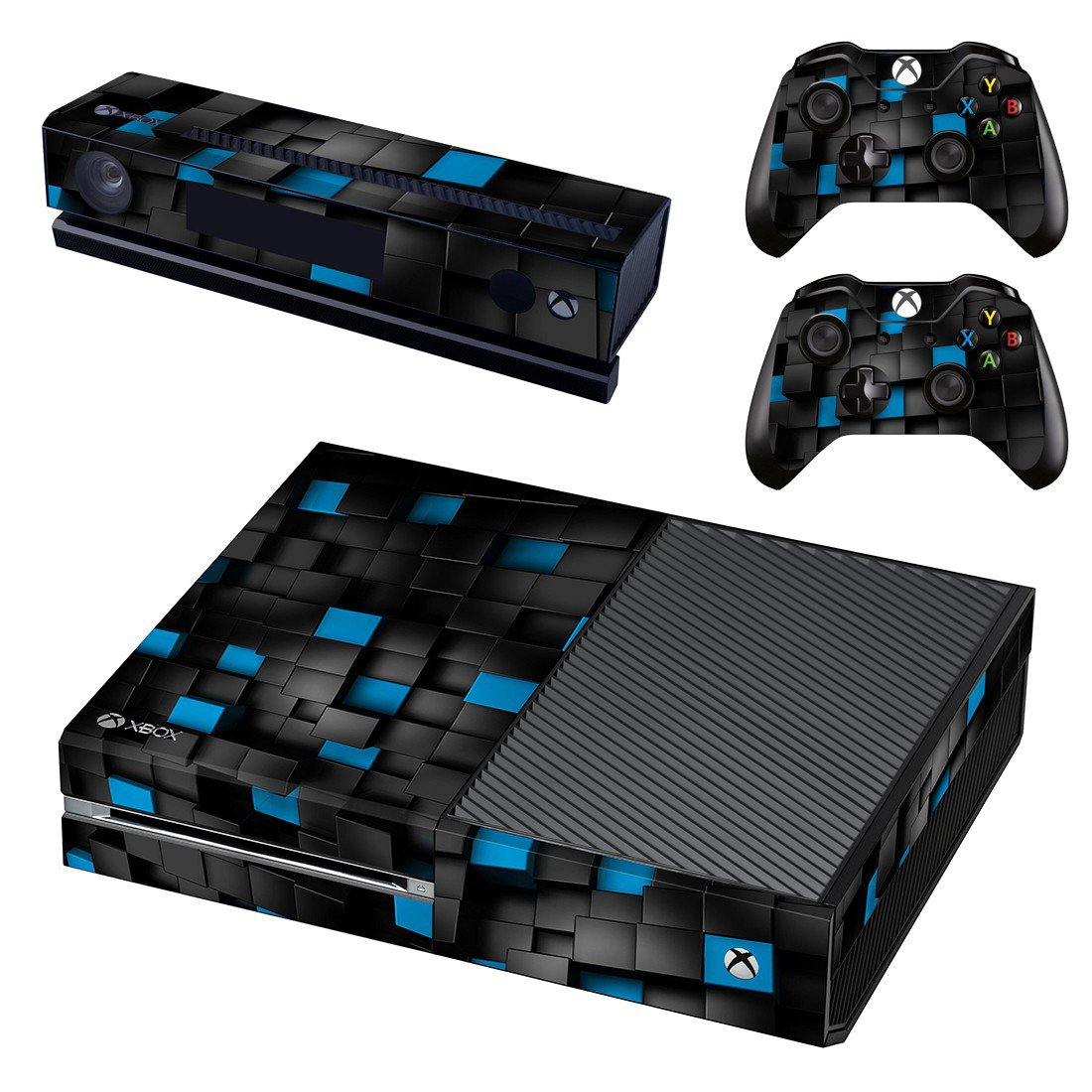 Square Block Shape skin decal for Xbox one console and controllers