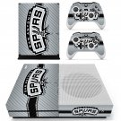 San Antonio Spurs skin decal for Xbox one S console and controllers