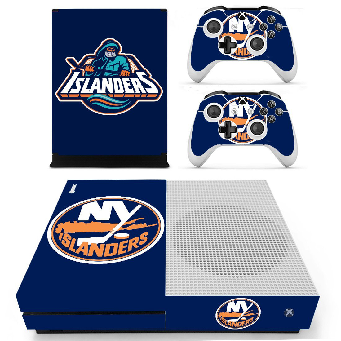 New York Islanders skin decal for Xbox one S console and controllers