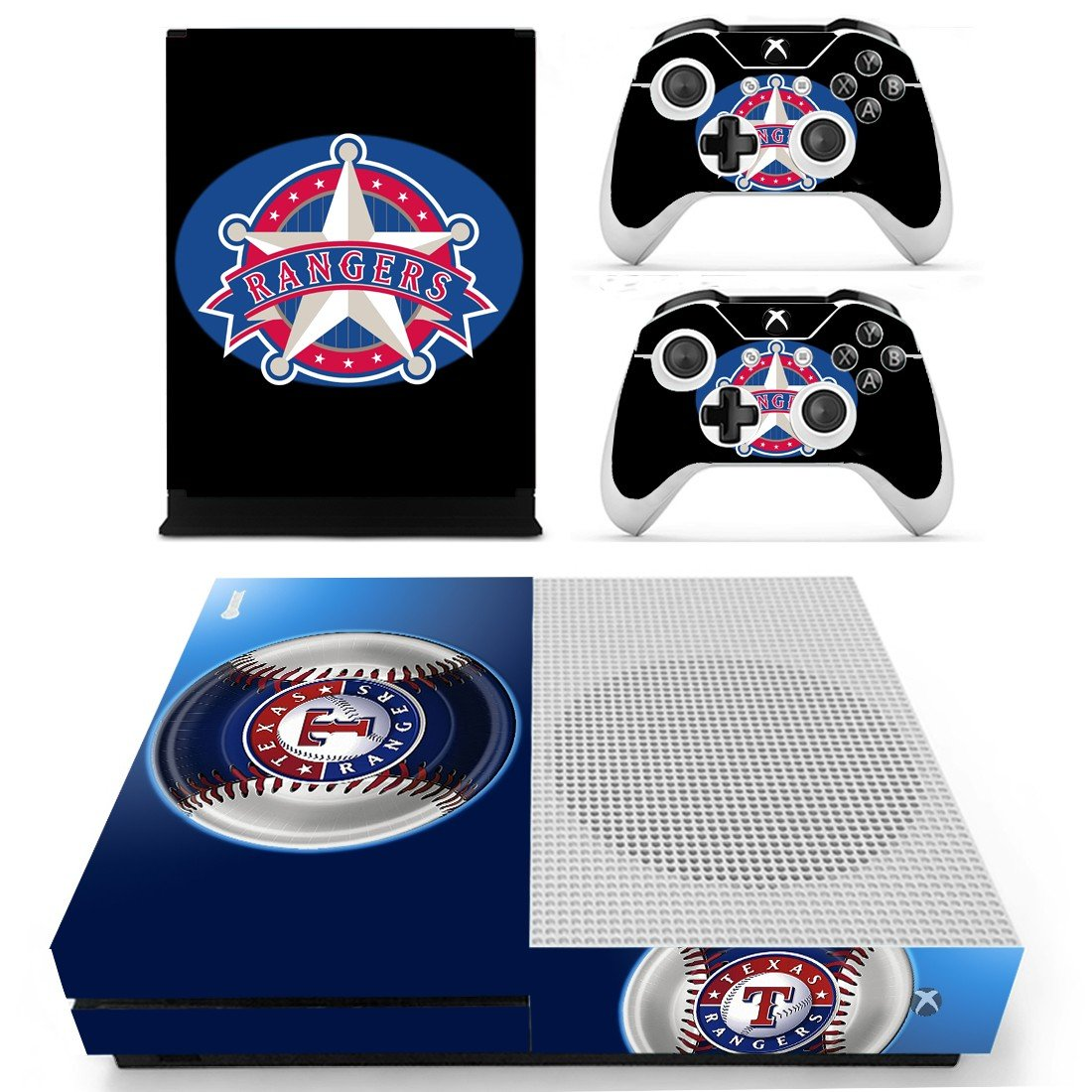 Texas Rangers skin decal for Xbox one S console and controllers