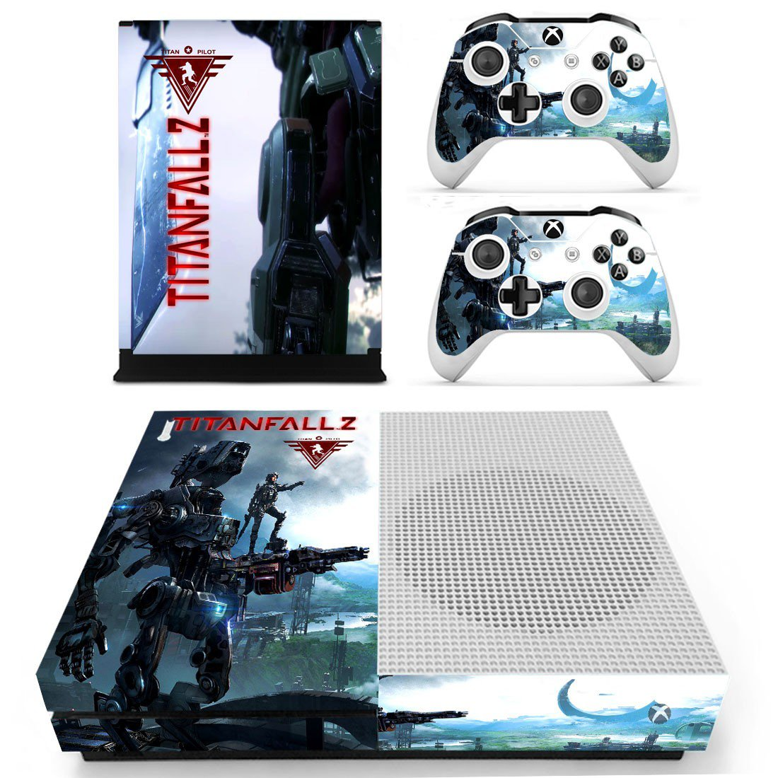 Titanfall2 skin decal for Xbox one S console and controllers