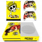 Onepiece Burning Blood skin decal for Xbox one S console and controllers