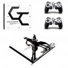 Guilty Crown Play Station 4 slim skin decal for console and 2 controllers