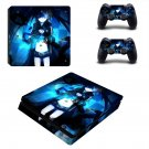 Black rock shooter Play Station 4 slim skin decal for console and 2 controllers