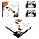 Asiimov Play Station 4 slim skin decal for console and 2 controllers