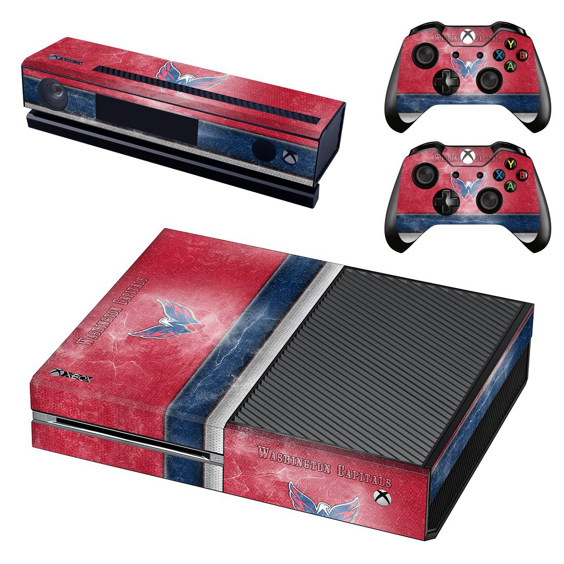 Washington Capitals skin decal for Xbox one console and controllers
