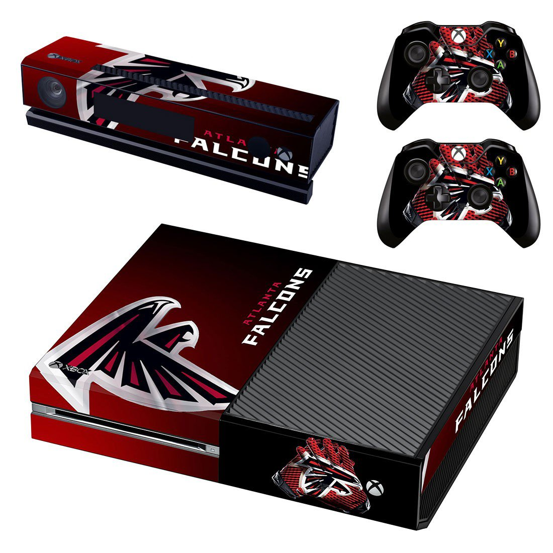 Atlanta Falcons skin decal for Xbox one console and controllers