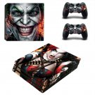 The Joker vs Harley Quinn ps4 pro skin decal for console and controllers