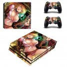 Sexy Cartoon Girl ps4 pro skin decal for console and controllers