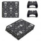 Skull clipart ps4 pro skin decal for console and controllers