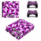 Morning wood camo ps4 pro skin decal for console and controllers
