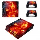 Fire Plant ps4 pro skin decal for console and controllers