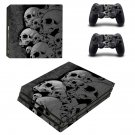 Broken Skulls ps4 pro skin decal for console and controllers