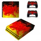 Poured Colors ps4 pro skin decal for console and controllers