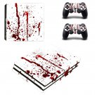 Red Blood drops ps4 pro skin decal for console and controllers