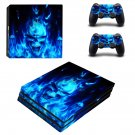 Fires Skull ps4 pro skin decal for console and controllers