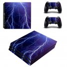 Thunder Lighting ps4 pro skin decal for console and controllers