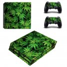 Cannabis Plant Leaves ps4 pro skin decal for console and controllers