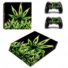 Cannabis fire Leaf ps4 pro skin decal for console and controllers
