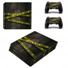 Crime Scene ps4 pro skin decal for console and controllers