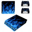 Blue Fire ps4 pro skin decal for console and controllers