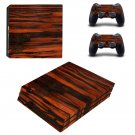 Red Wooden Board ps4 pro skin decal for console and controllers