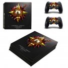 Unbowed, Unbent, Unbroken ps4 pro skin decal for console and controllers