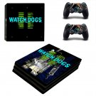 Watch Dog2 ps4 pro skin decal for console and controllers