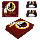 The Washington Redskins ps4 pro skin decal for console and controllers