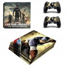 Captain America the winter soldier ps4 pro skin decal for console and controllers