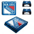 new york rangers ps4 slim edition skin decal for console and controllers