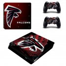 atlanta falcons ps4 slim edition skin decal for console and controllers