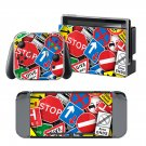 Road Sign design vinyl decal for Nintendo switch console sticker skin