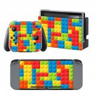 Block Color Pattern design decal for Nintendo switch console sticker skin