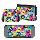 Painted Cartoon design decal for Nintendo switch console sticker skin