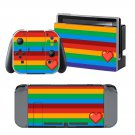Love Color Bar design decal for Nintendo switch console sticker skin