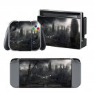 Post apocalyptic city design decal for Nintendo switch console sticker skin