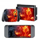 Fire Leaf design decal for Nintendo switch console sticker skin