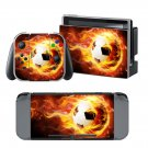 Fire Football design decal for Nintendo switch console sticker skin