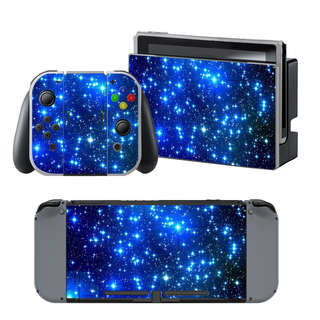 Starry sky design decal for Nintendo switch console sticker skin