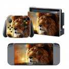Fire Lion design decal for Nintendo switch console sticker skin