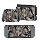 Military camouflage design decal for Nintendo switch console sticker skin